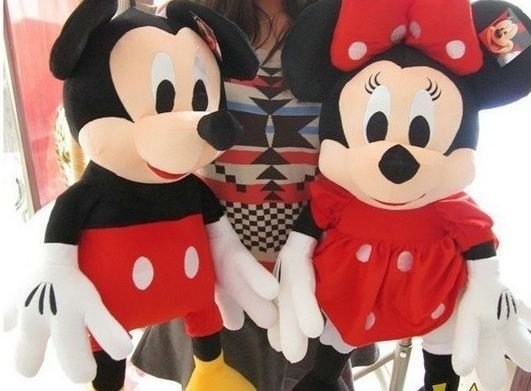 Pelúcia Mickey e Minnie