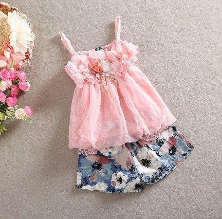 Conjunto Infantil Menina Rosas
