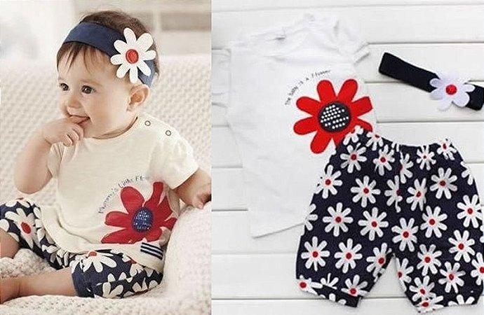 Conjunto Infantil Florzinha