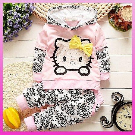Conjunto Agasalho Hello Kitty