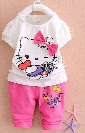 Conjunto Hello Kitty e Snoopy