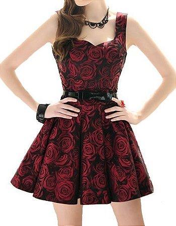 Vestido Bouquet Rosas