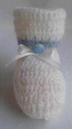 Sapatinho de Lã Crochê