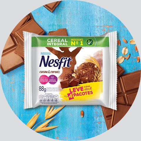 Biscoito Nesfit Cacau e Cereais Sachê 4x22grs