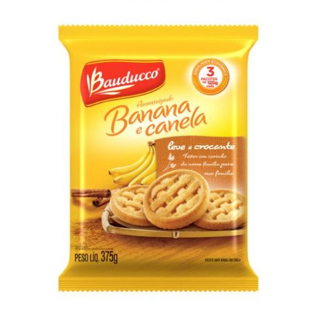 Amanteigado Banana com Canela Bauducco 375 grs