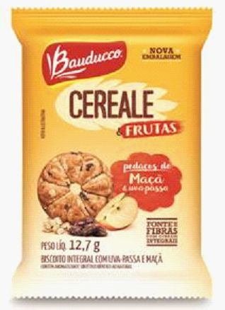 Biscoito Cereale Maça & Uva Passas Sachê Bauducco