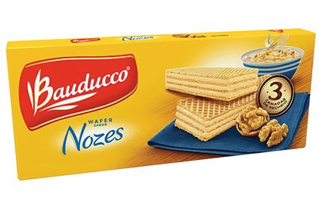 Biscoito Wafer Nozes Bauducco 140g