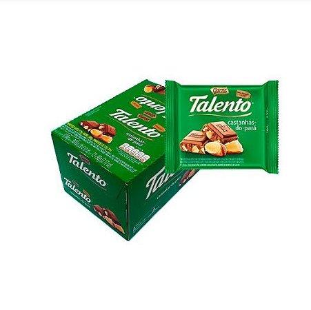 Chocolate Talento Castanha Do Pará 12x90g