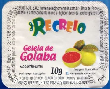 GELEIA HOMEMADE GOIABA E MORANGO 144x10GRS