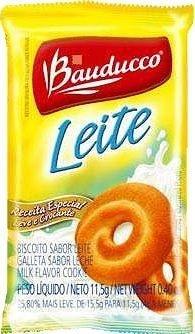 Biscoito Sachê Bauducco Leite 400 sachês.