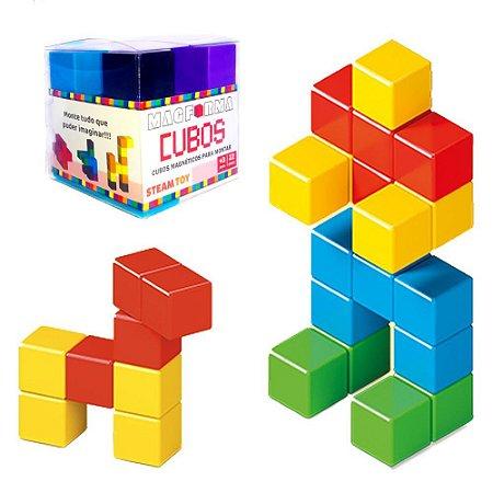 Blocos de Montar Cubos Magnéticos