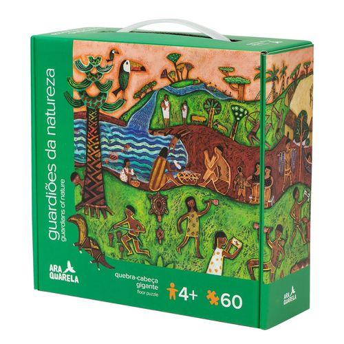 Quebra-Cabeça Gigante 60 Peças Guardiões da Natureza