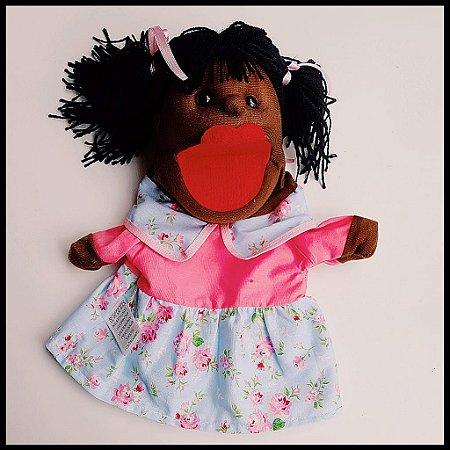 Fantoche Menina Negra em Tecido