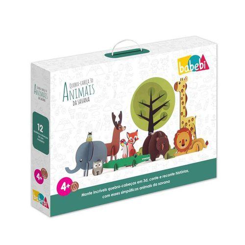 Quebra-Cabeça 3D Animais da Savana