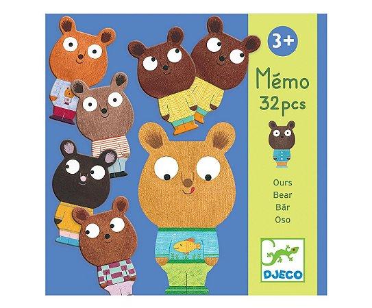 Jogo da Memória Memo Bear - djeco