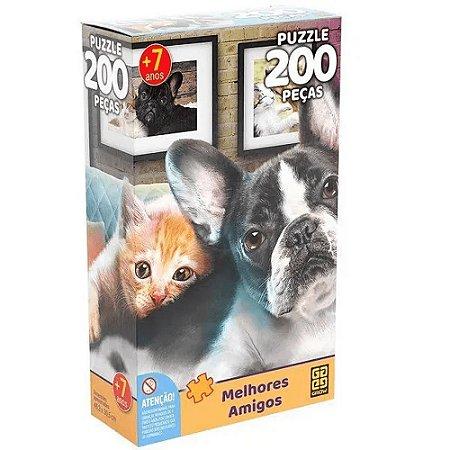 Quebra-Cabeça 200 peças Melhores Amigos