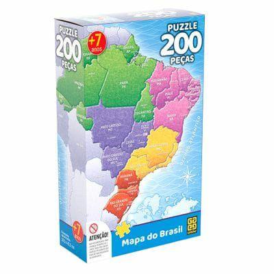 Quebra-Cabeça 200 peças Mapa do Brasil