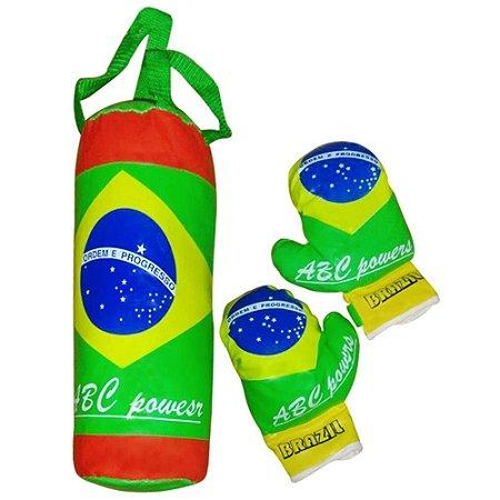 Kit Boxe Infantil Luvas e Saco de Pancada Champions