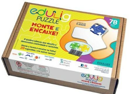 Edulig Puzzle 3D Encaixe 78 peças