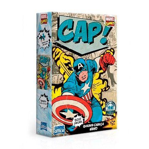 Quebra-Cabeça Marvel Comics - Capitão América 500 Peças Nano