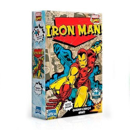 Quebra-Cabeça Marvel Comics - Homem de Ferro 500 Peças Nano