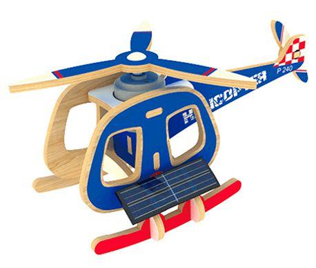 Quebra-Cabeça 3D Helicóptero Movido a Energia Solar