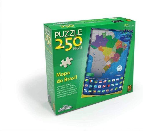 Quebra-Cabeça 250 Peças Mapa do Brasil
