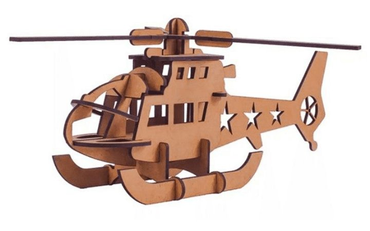 Quebra-Cabeça 3D Helicóptero 23 Peças
