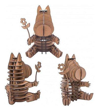 Quebra-Cabeça 3D Hipopótamo Lisbela 47 Peças