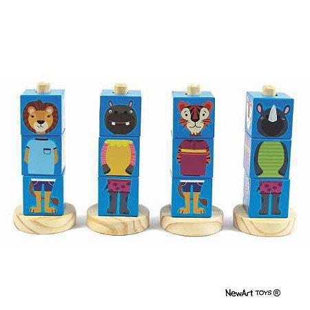Cubos Animais Azul
