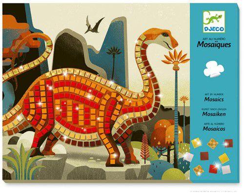 Colagem com Mosaico Dinossauros Djeco
