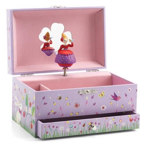 Caixa de Música Princesa e Pássaro -Djeco