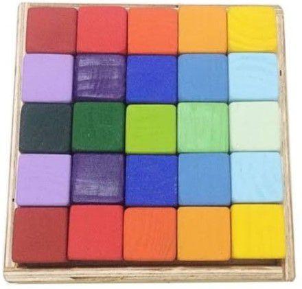 Blocos de Montar com 25 Cubos