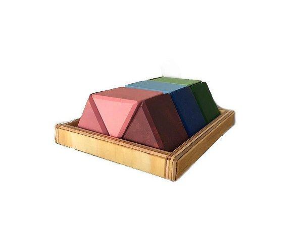 Blocos de Montar 9 Triângulos