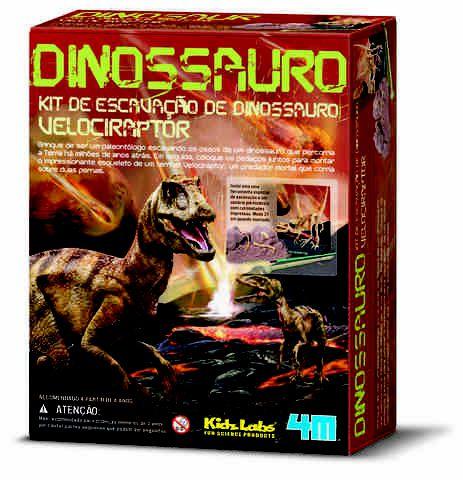 Kit De Escavação De Esqueleto Velociraptor