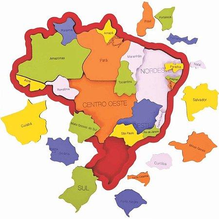 Quebra Cabeça Brasil, Regiões, Estados e Capitais