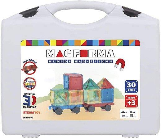 Jogo Magnético 30 peças com Rodinha