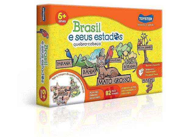 Quebra-Cabeça 82 Peças Brasil e seus Estados