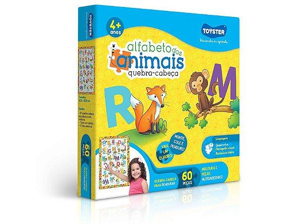 Quebra-Cabeça 60 Peças Quadrão Alfabeto dos Animais
