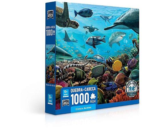 Quebra cabeça 1.000 peças Criaturas Marinhas