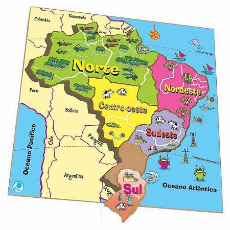 Quebra Cabeça Mapa-Regiões