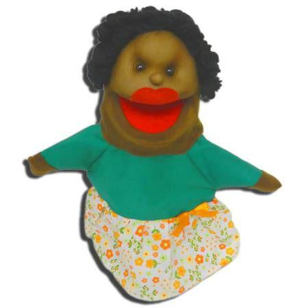 Fantoche Mamãe Negra em Tecido