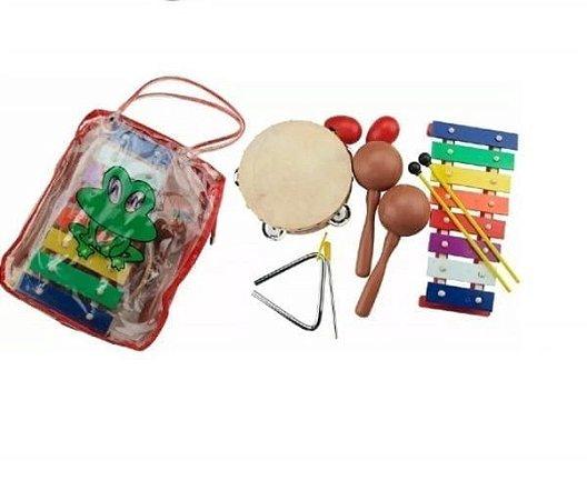 Kit de Percussão com Sacola