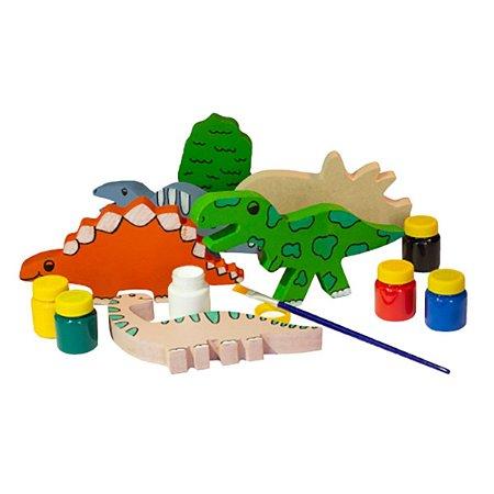 Kit Dinossauro em Madeira Para Colorir