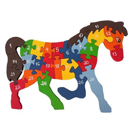 Quebra-Cabeça com Alfabeto e Numeros Cavalo