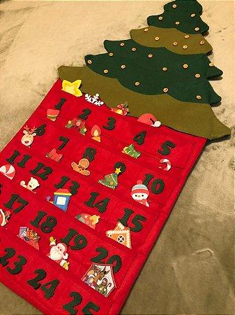 Calendário do Advento de Feltro Árvore de Natal