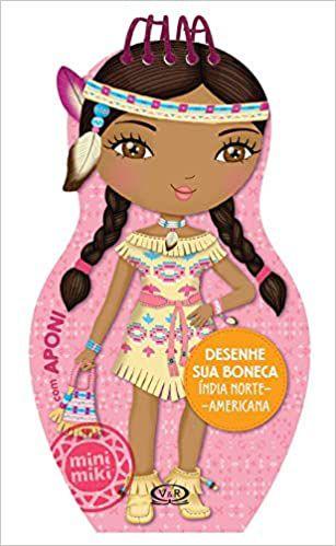 Desenhe sua Boneca Índia Norte-Americana