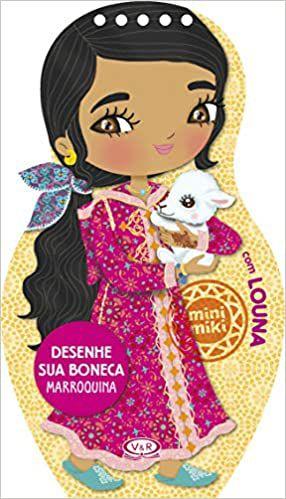 Desenhe sua Boneca Marroquina