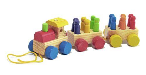 Mini Trem com Pinos