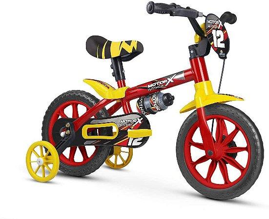Bicicleta Infantil Aro 12 Com Rodinhas Menino Motor X PU